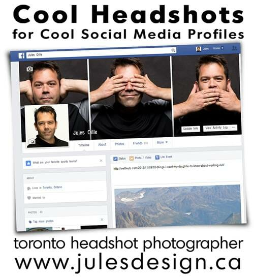 Social Media Headshots and banner infographic
