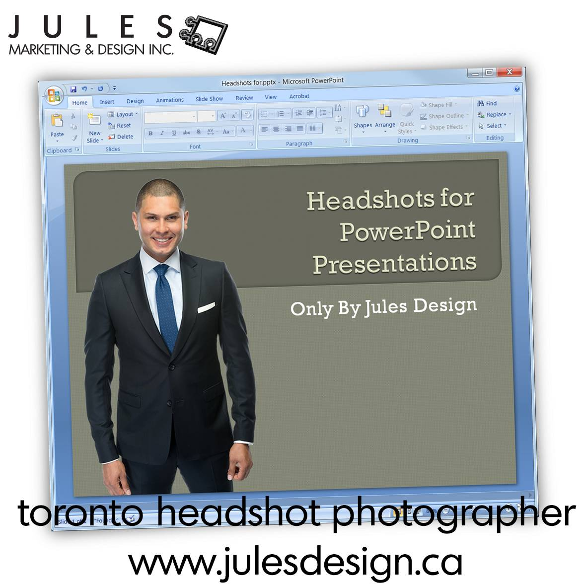 A Headshot for a PowerPoint Presentation