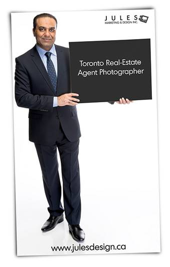 A Toronto real estate agent headshot example