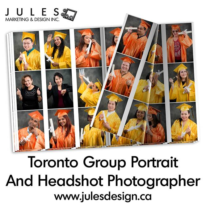 Toronto Group Headshot and Portrait Photographer Infographic