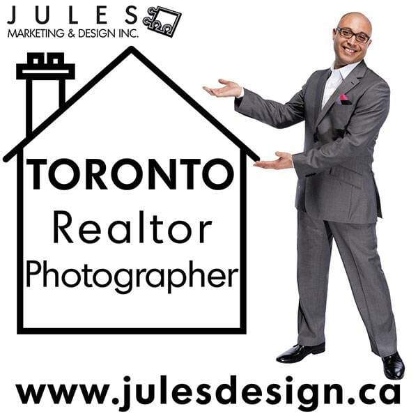 Toronto Realtor Photographer Infographic with a real estate agent