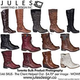 Toronto Bulk Shoe Product Photography Studio