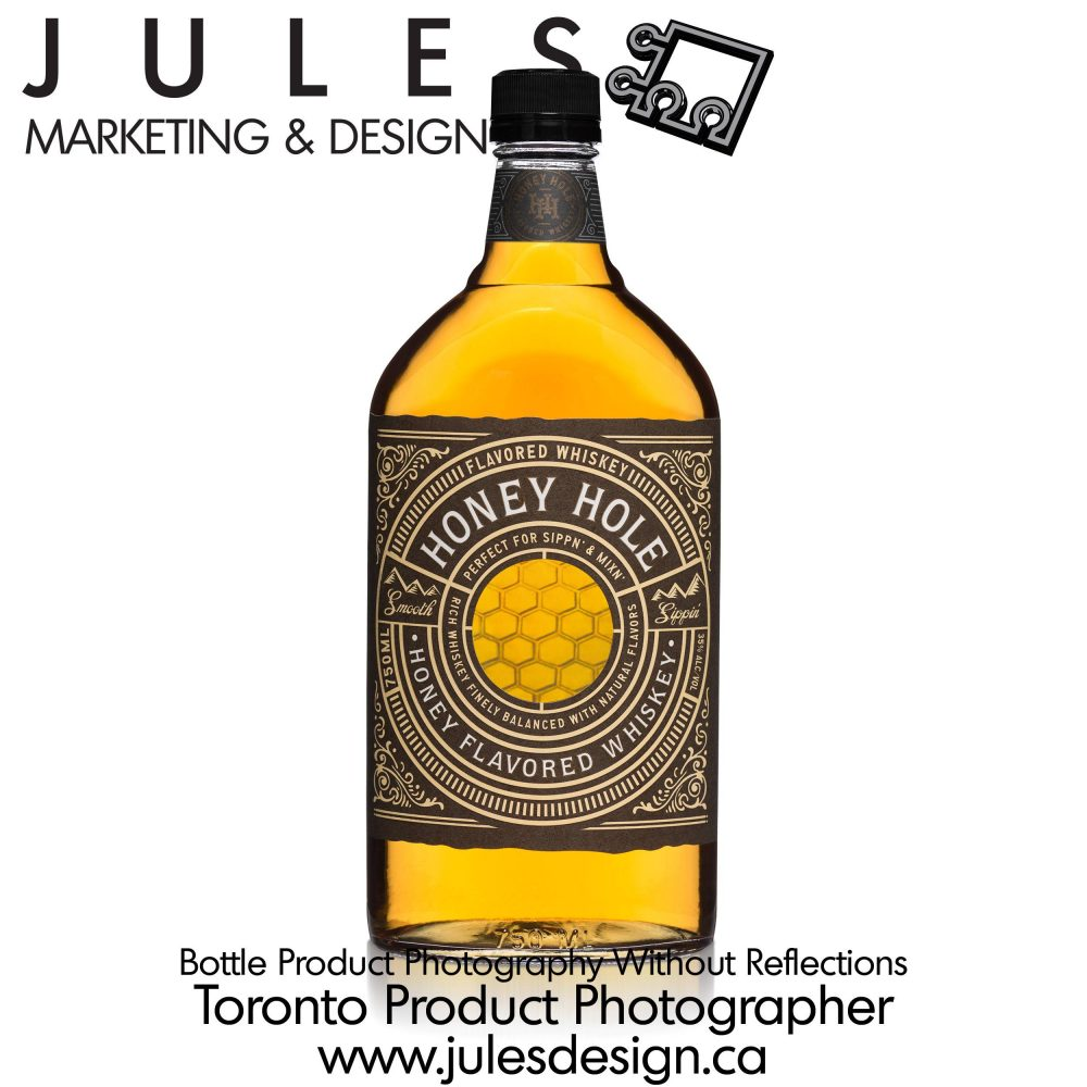Toronto Bottle Photography without reflections or glare spots
