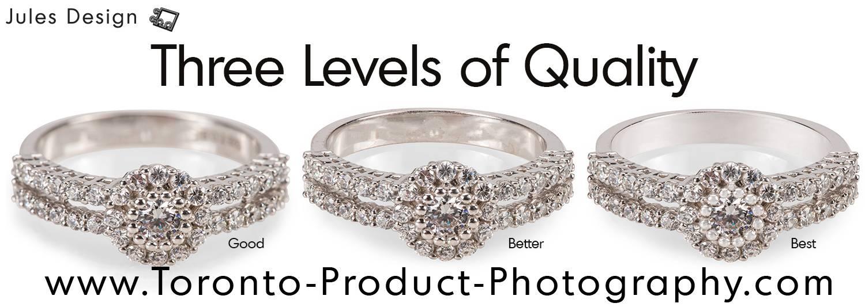 Editing jewelry photography Toronto