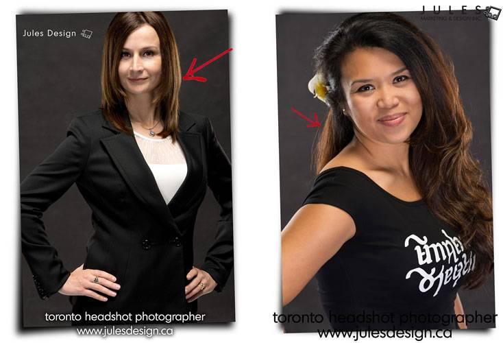 Hair lighting Toronto Headshot Photographer