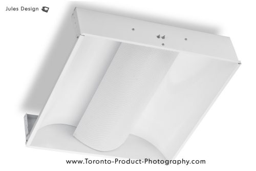 Toronto Light Fixture Product Photography - White object on white