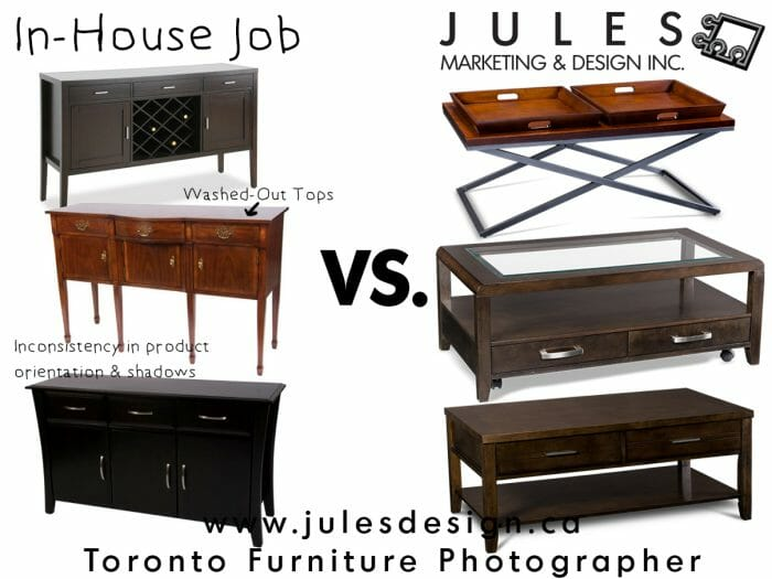 Product Photography In-house - Toronto Furniture Photographers