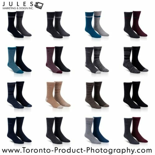 GTA Mississauga Toronto Sock Product Photography Studio