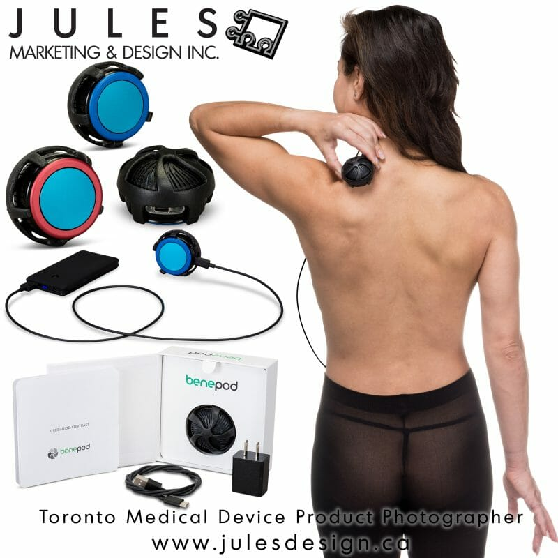 Toronto medical device product photographer infographic