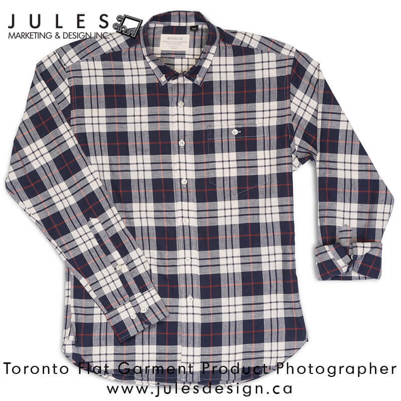 Toronto Flat-Lay Fashion Garment Clothing Product Photographer Studio