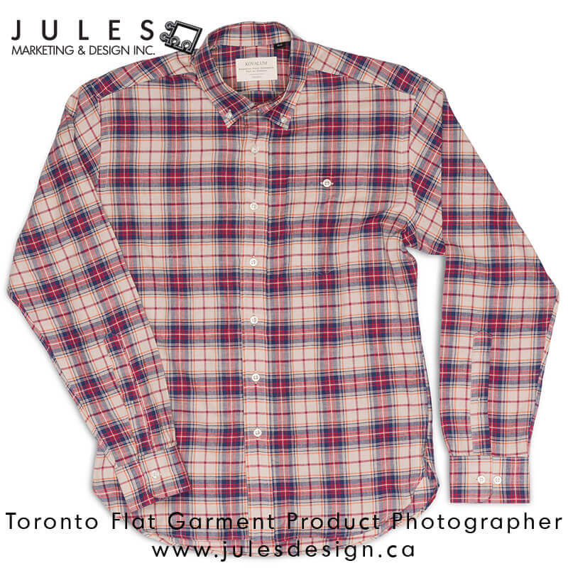 Mississauga Markham Brampton Flat Shirt Product Photographer