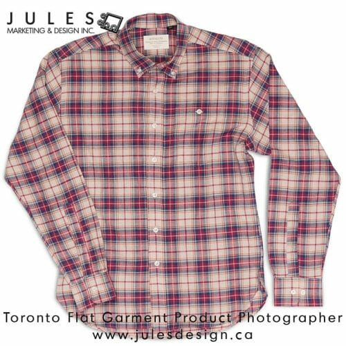 Flat Shirt Product Photographer- Toronto Product Photographer