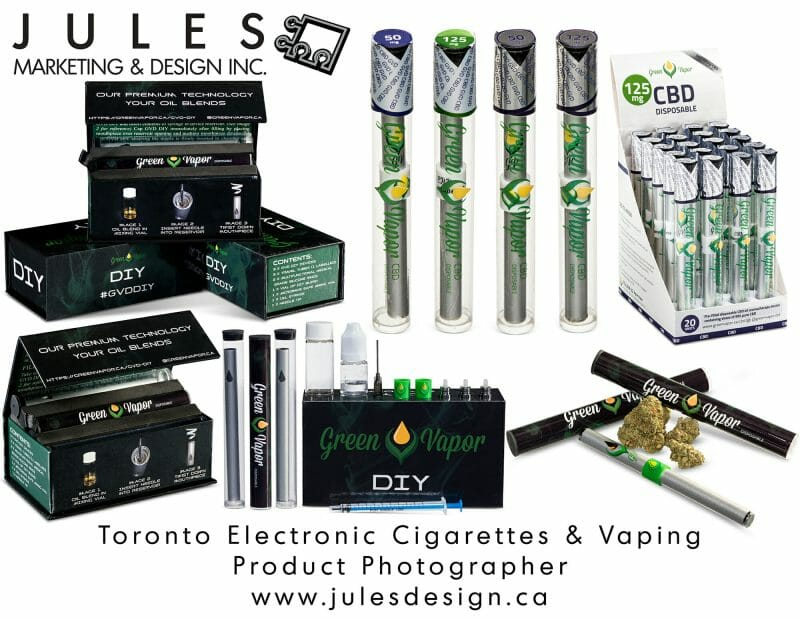 Toronto Product Photographer for Electronic Cigarettes E-Cigs & E-Cigarettes for Vaping Canadian Commercial Photo Studio