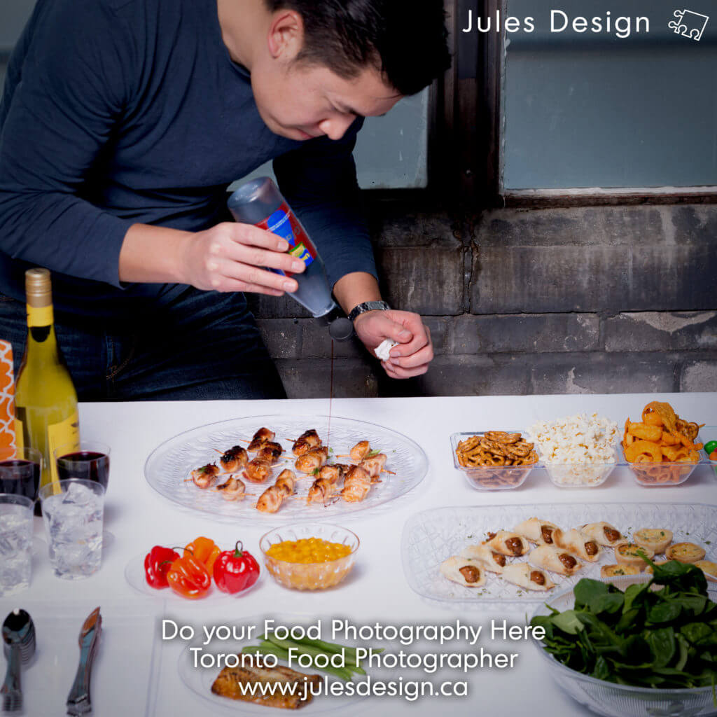 Toronto Food Photo Studio where Clients can participate in the photo shoot