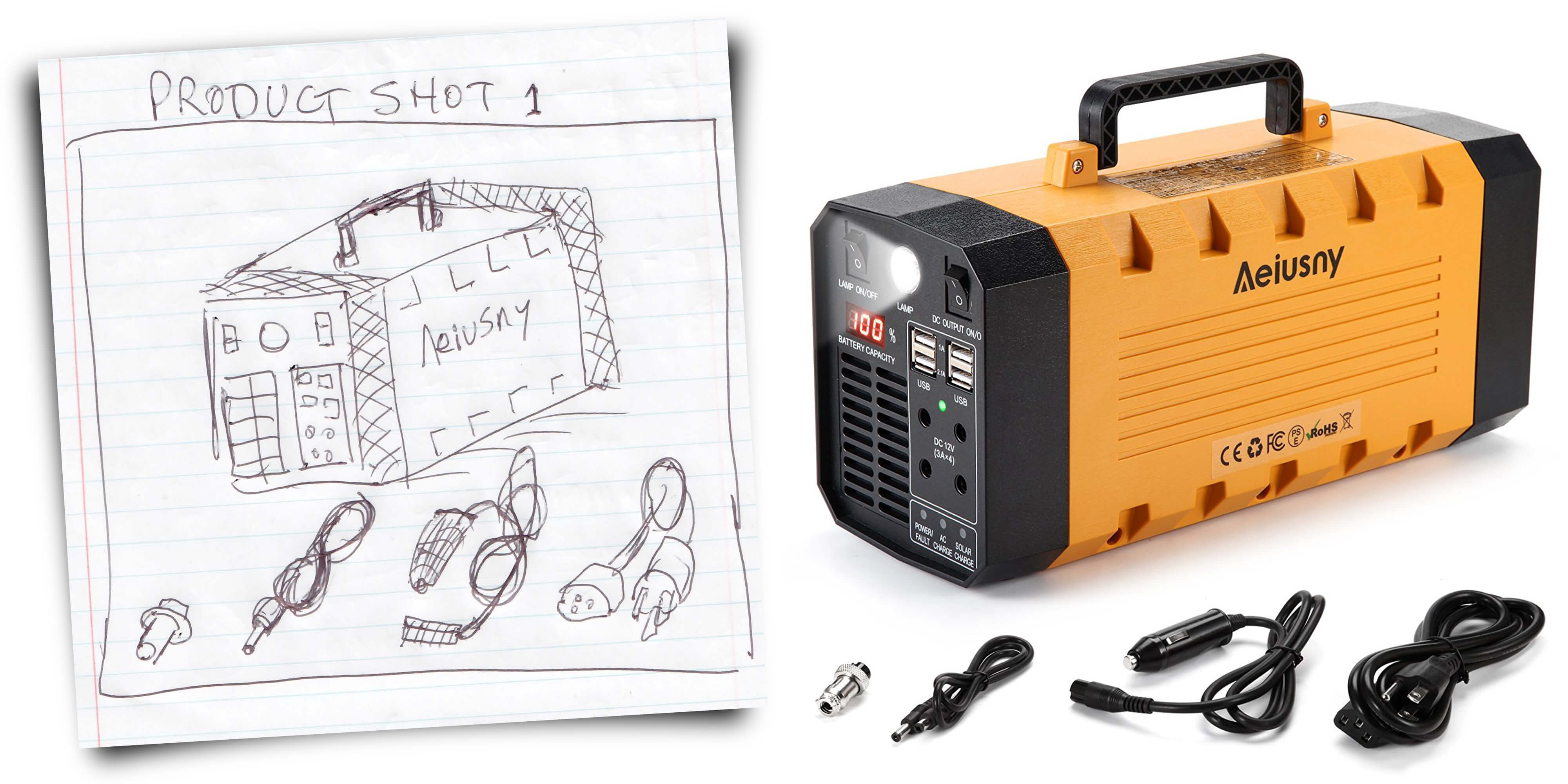 Amazon Product Photography Hand Sketch