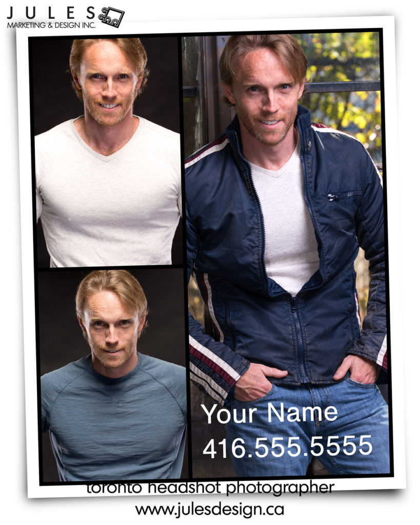 Best Headshots for Actors Toronto Compcard Design
