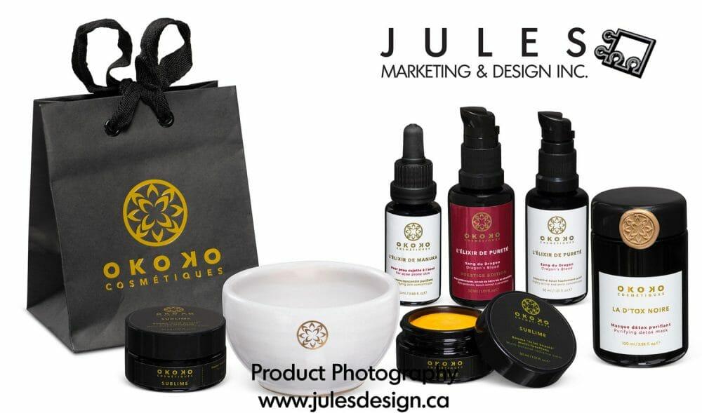 Group shot cosmetic product photography studio Toronto Markham