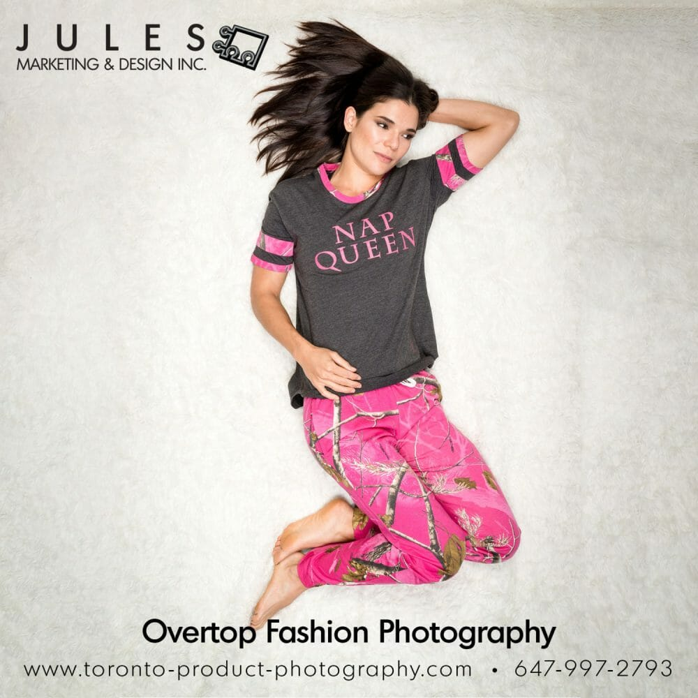 Over top Fashion Photography Toronto Pajama Fashion Photographer