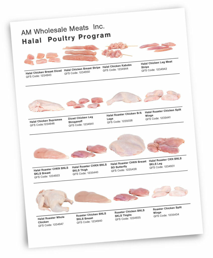 BRAMPTON MISSISSAUGA Toronto Meat Food Sell Sheet Photography and Graphic Design