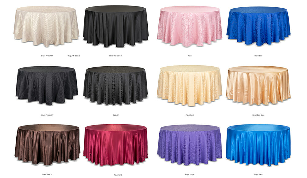 Special Events Bulk Product Photography for Table Cloths.