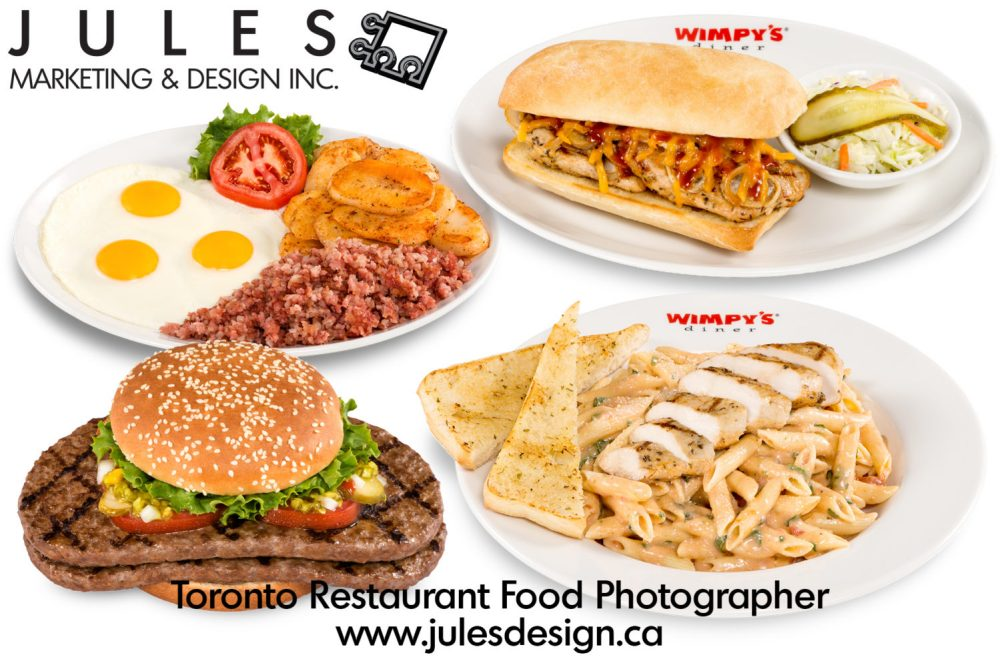 Toronto Fast Food Photography for Menus