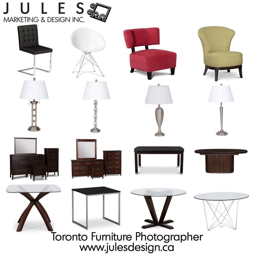 Brampton Markham Furniture Photographer catalog images on white