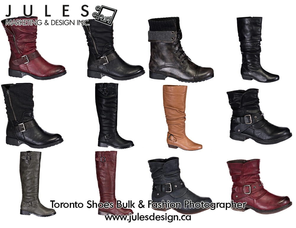 Toronto Bulk Shoes and Boots Product Photographer