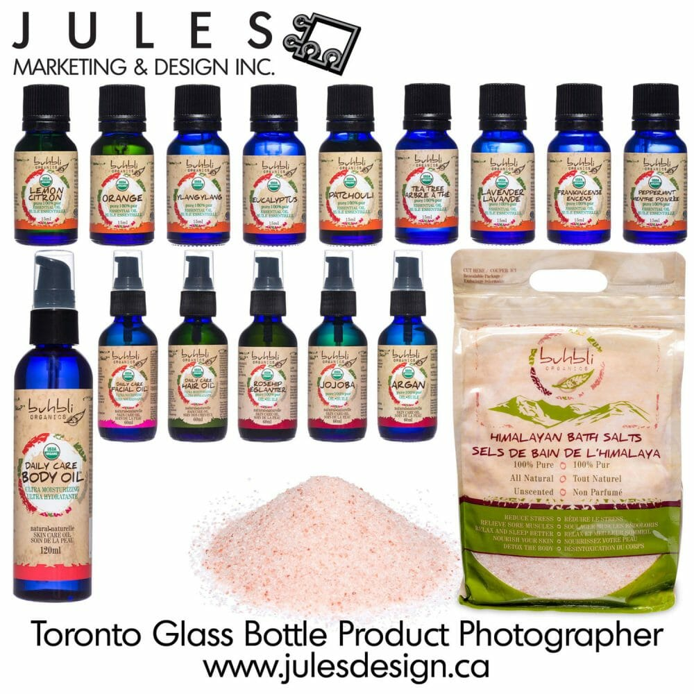 Markham Mississauga Toronto Glass Bottle Product Photographer for Essential Oils