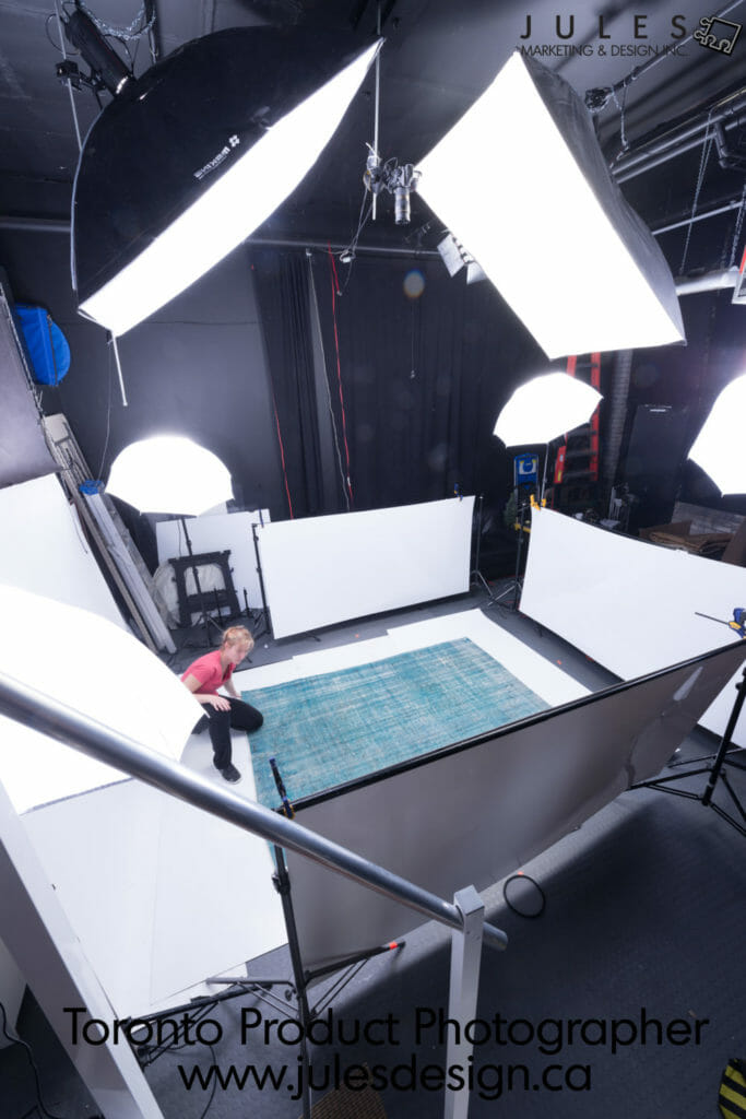How we photograph carpet in a photo studio