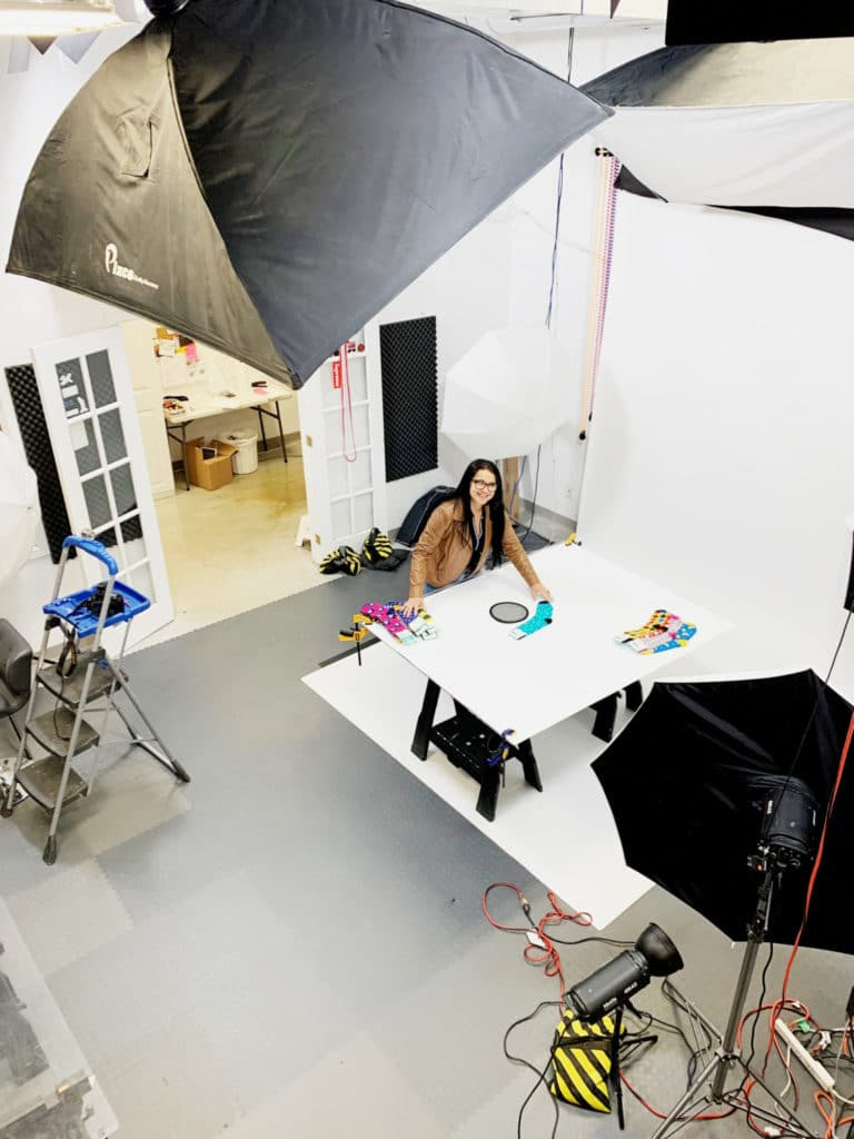 Toronto Over-Top laid Flat Clothing Photography Studio
