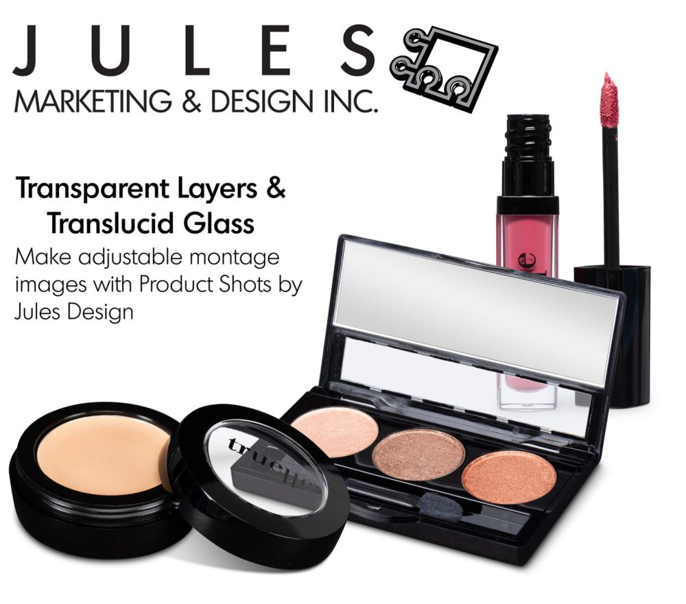 Transparent Layers & Translucent Glass Cosmetic Product Photo