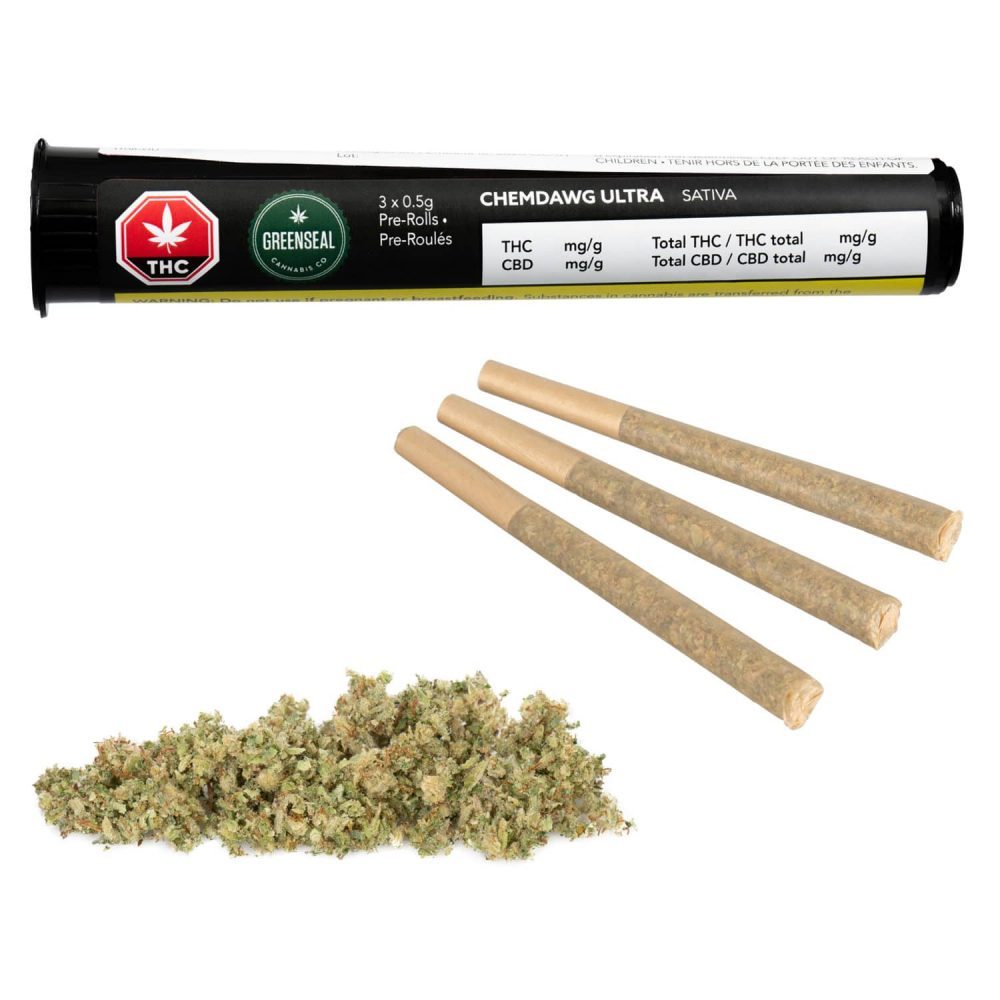 Pre-rolled cannabis photography following GS1 Canada OCS standards